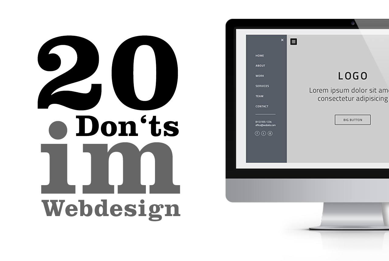 Diese Fehler sollten Sie im Webdesign vermeiden