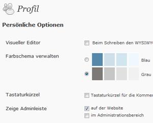 WordPress Profil bearbeiten