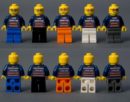 Die Business-Karte aus Legosteinen