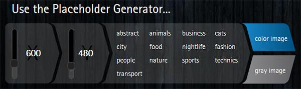 Lorem Pixel Generator für Dummy-Bilder