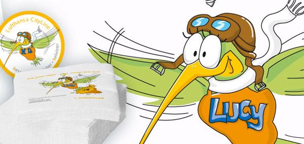 Das Maskottchen der Lufthansa City Line