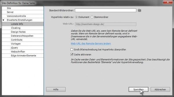 FTP Verbindung in Dreamweaver herstellen