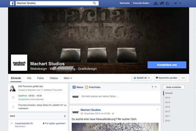 Facebook Seiten glänzen mit neuem Design