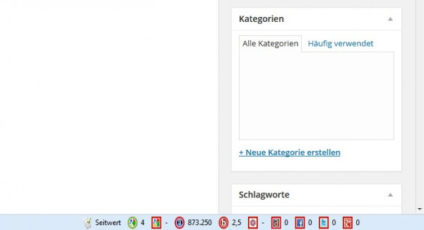 Plugin Seitwert Info Bar
