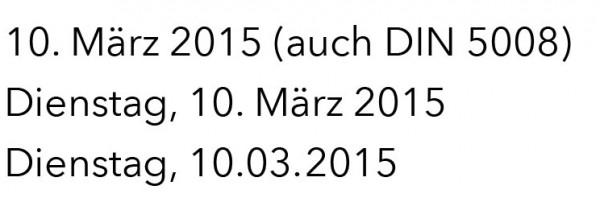 So sieht das ausgeschriebene Datum typographisch gut aus