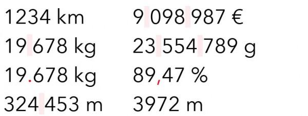 Maßeinheiten typographisch richtig darstellen