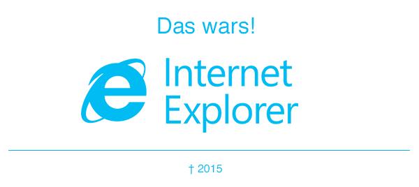 Adieu, Internet Explorer