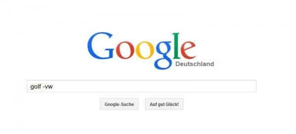 So funktionieren Minuszeichen in der Google Suche