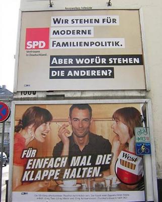 SPD Wahlplakat im Bundestagswahlkampf 2013