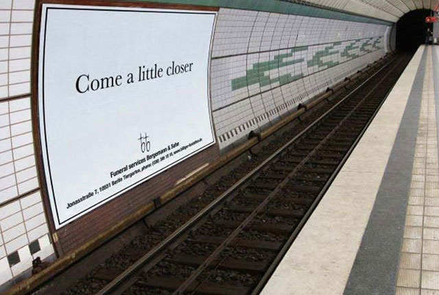 schlecht platzierte Werbung