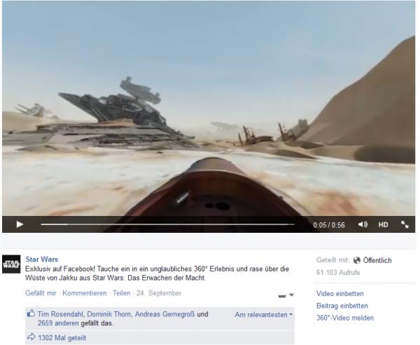 360° Videos auf Facebook