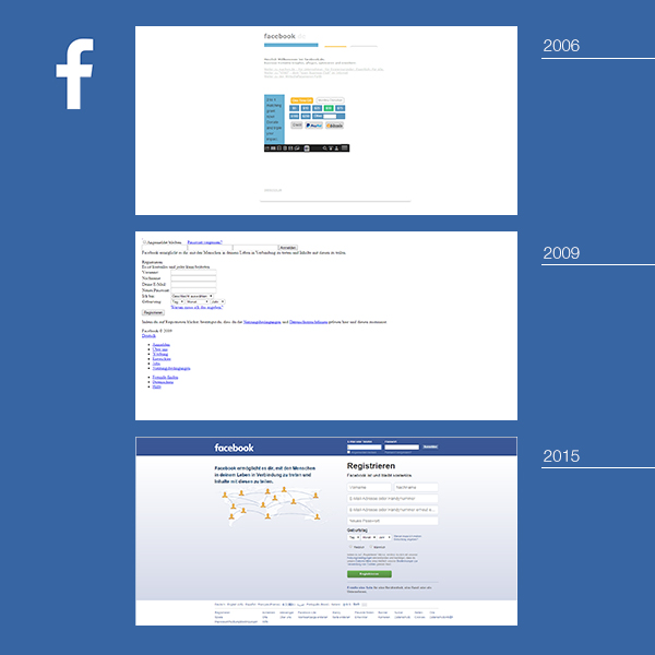 Facebook alte Website
