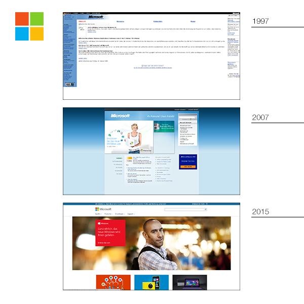 Microsoft alte Website