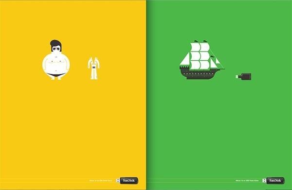 Scan-Disc USB Illustrierte Kampagne