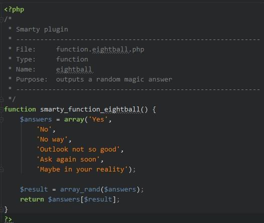Beispiel einer function: