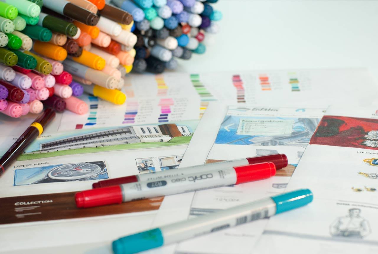 Skizzen zeichnen im Designprozess - so geht das.