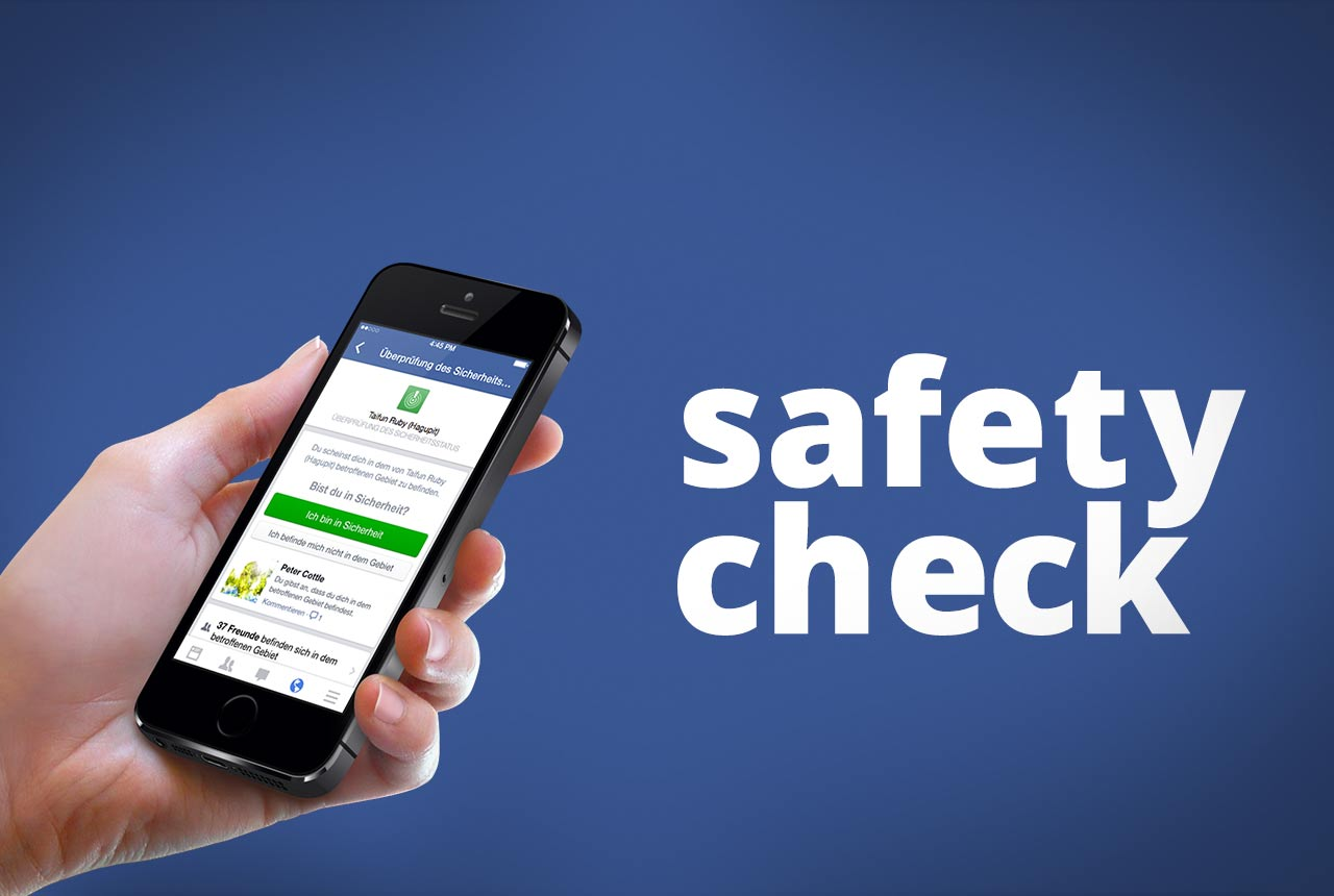Safety Check Facebook Sicherheitsstatus