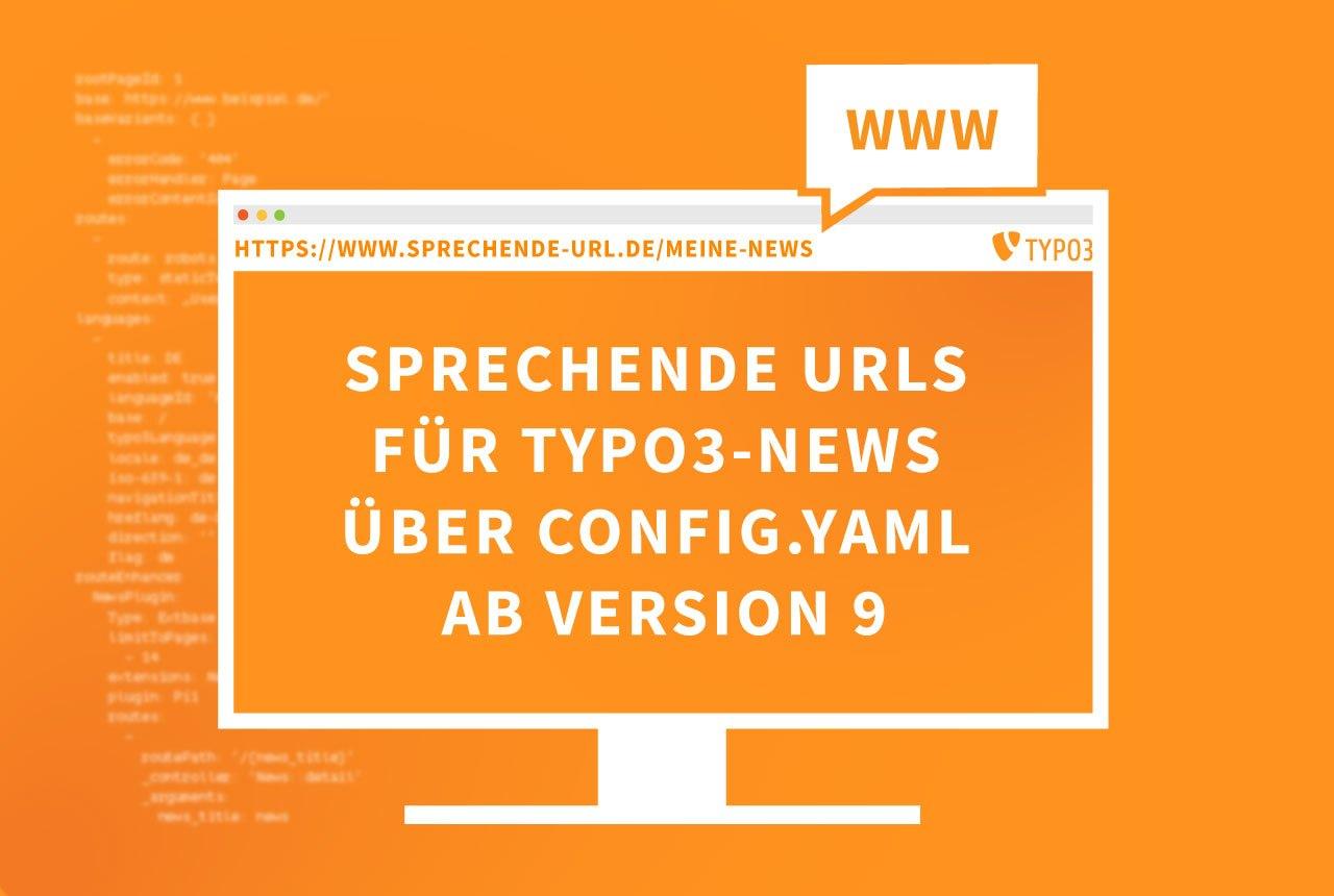 Sprechende URLs für tx_news in Typo3 ab V9